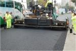 Pavimentación de vial mediante aglomerado asfáltico